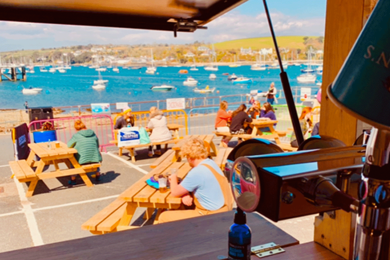 Outdoor drinking Falmouth Cornwall